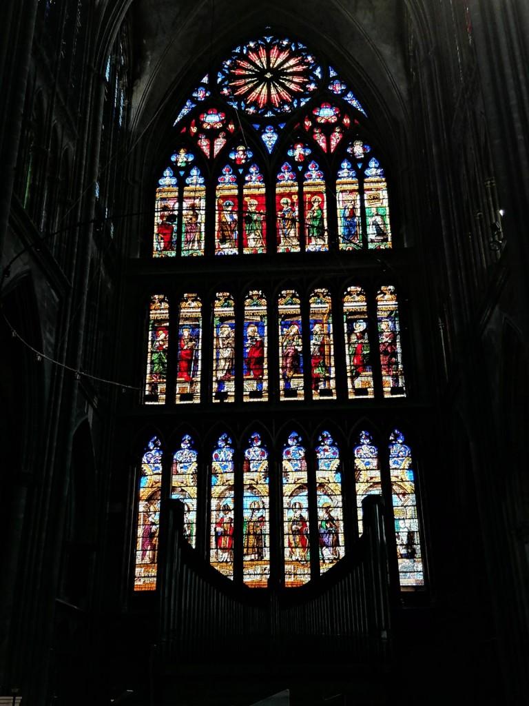 Mittelalterliche Krichenfenster in Metz